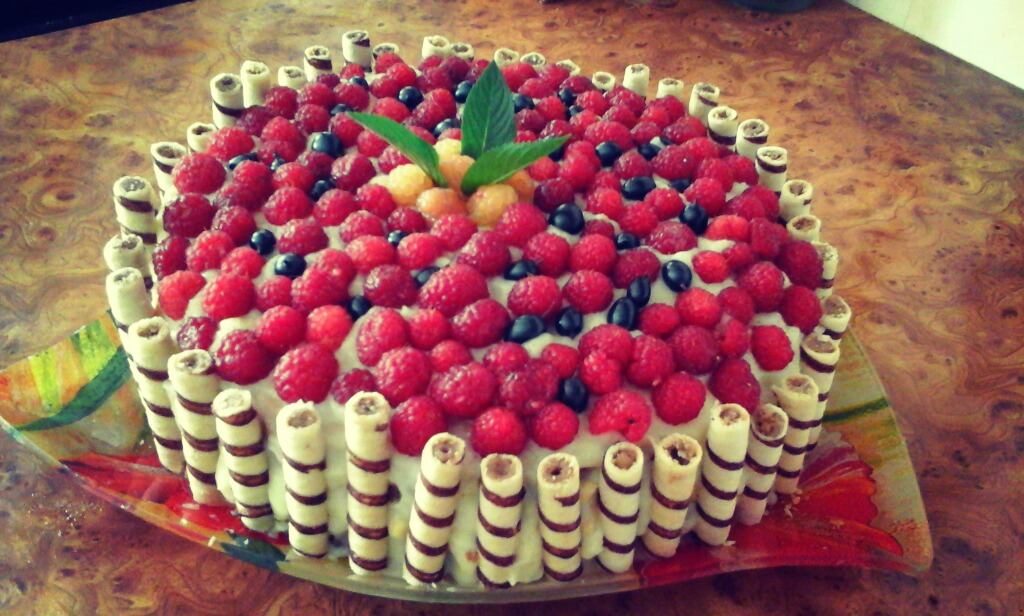Видео рецепт торта с фруктами