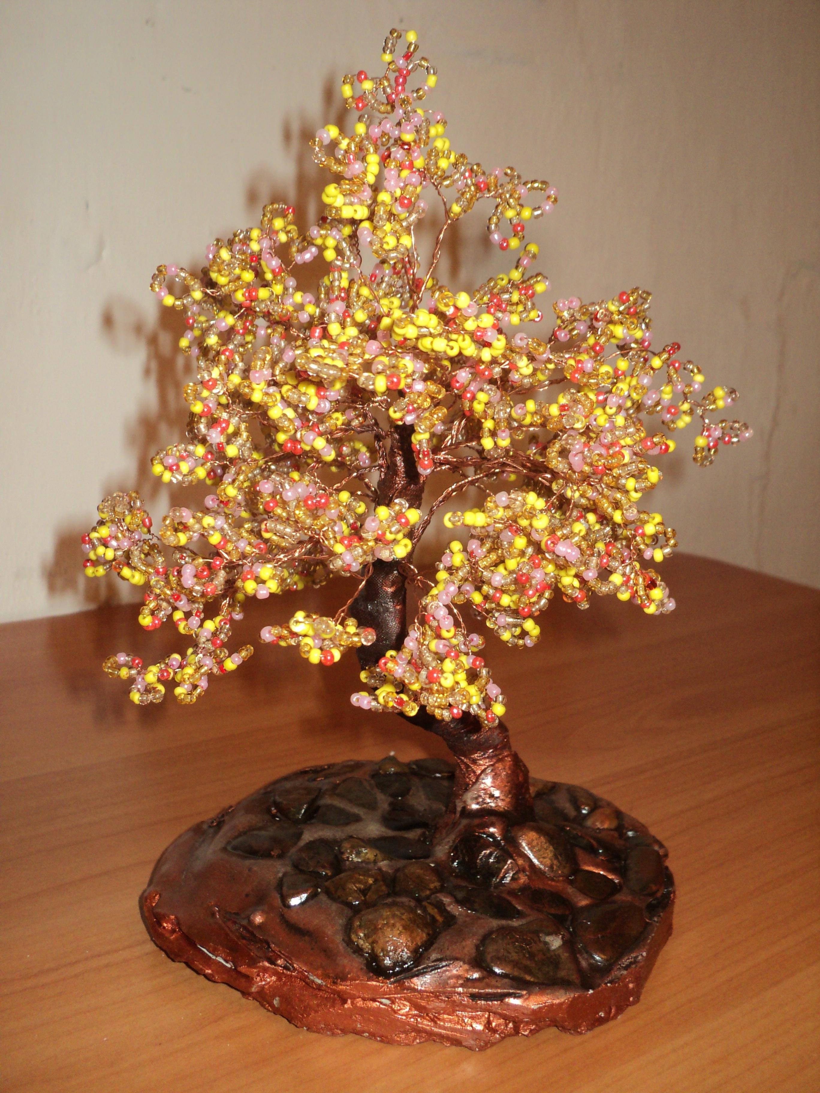 Дерево из бисера материалы