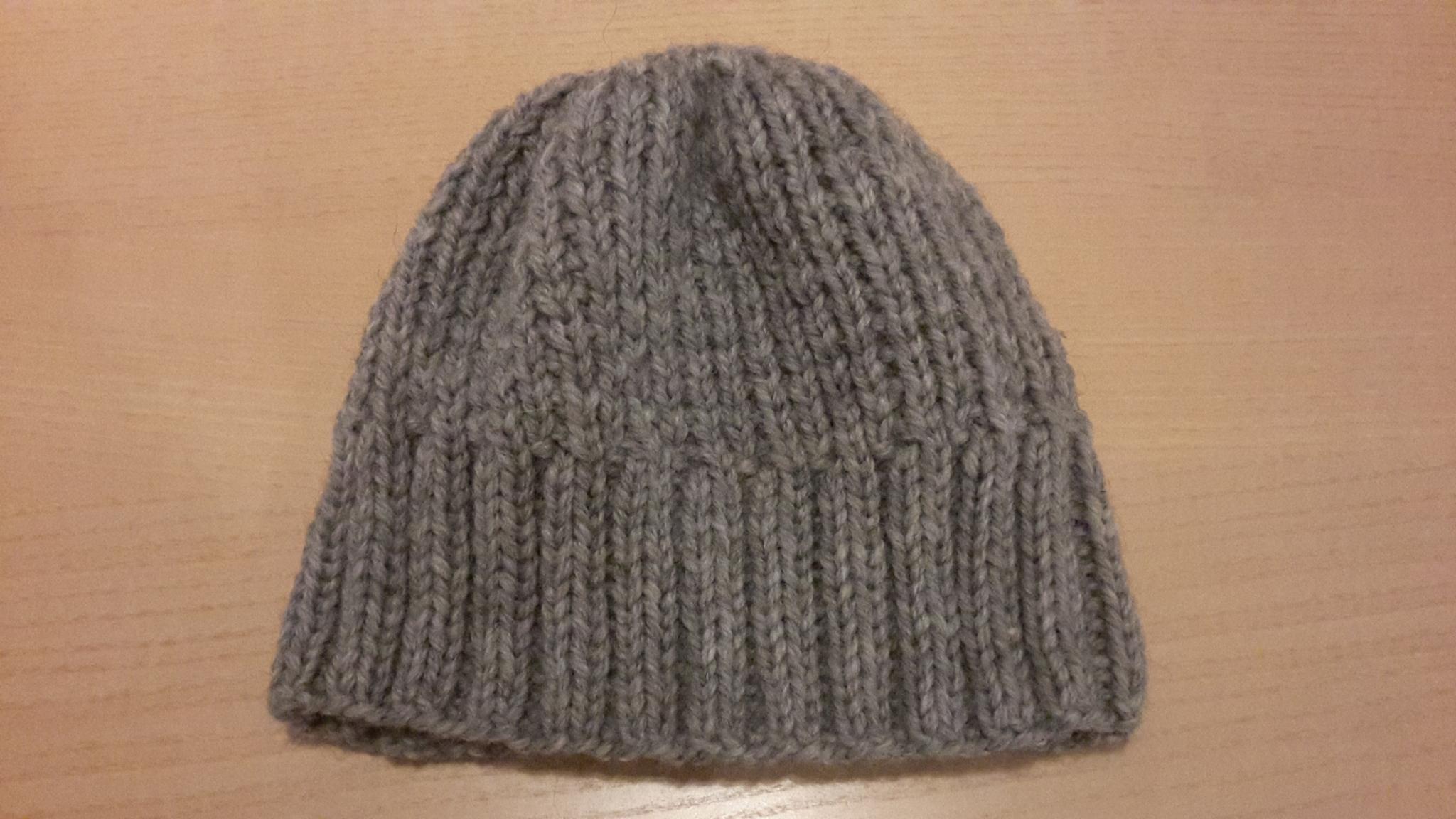 шапка узором жемчужная резинка спицами