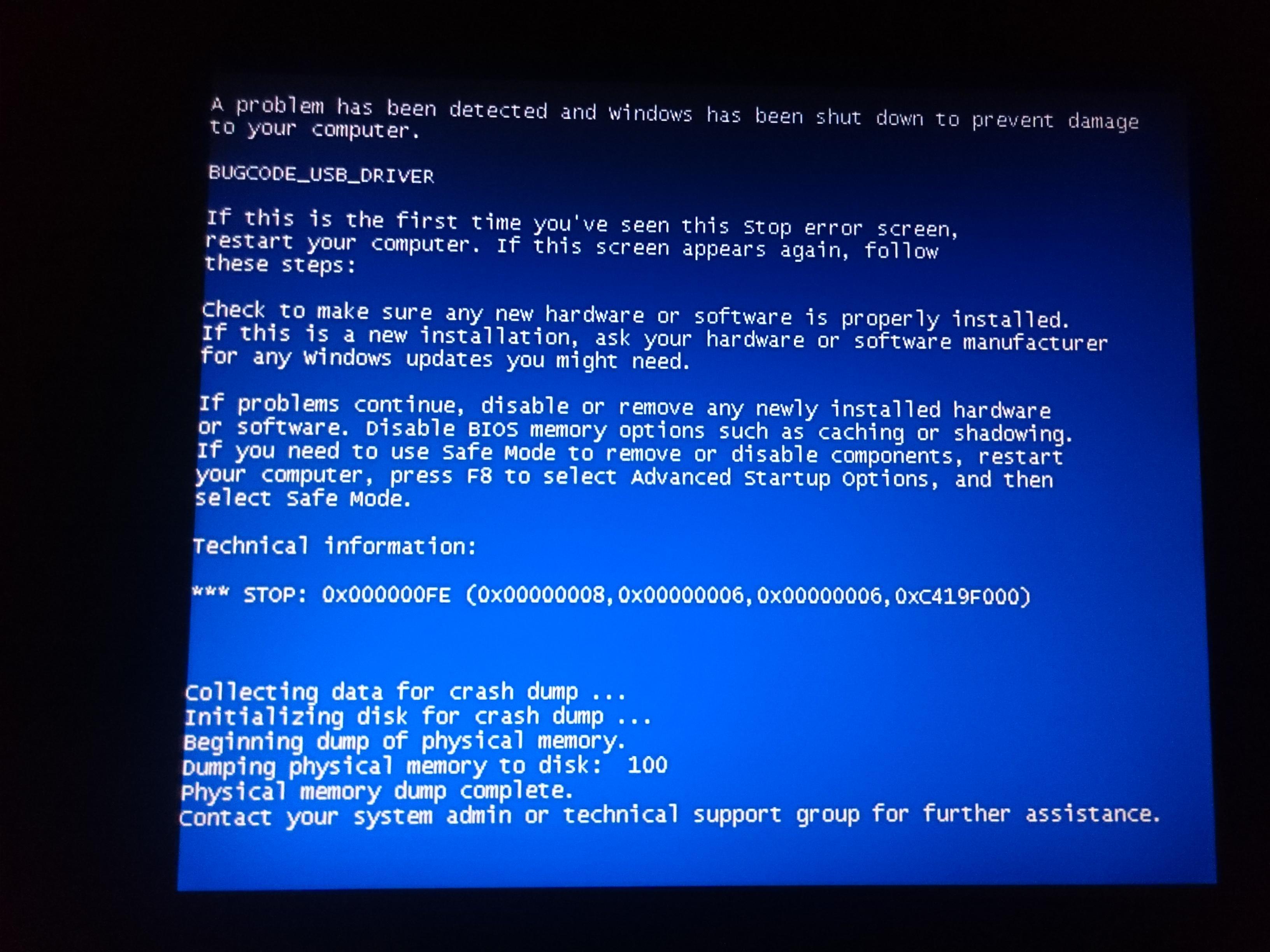 Как сделать синий экран смерти windows 7 фото 617
